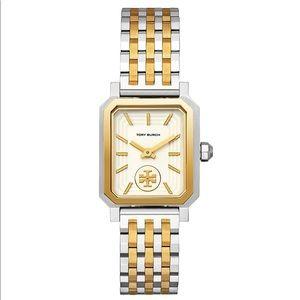 { Tory Burch } Robinson Watch Silver Gold 27mm